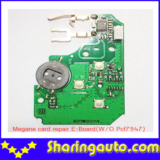 free shipping 3 Button Electronic Remote PCB Repair Set for Renault Megane Card without PCf7947 free shipping qhy polemaster electronic polarscope without adapter