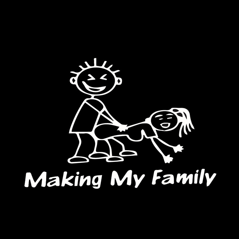 Cool graphics making my family stick people decal funny car vinyl sticker jdm car stying jdm in car stickers from automobiles motorcycles on