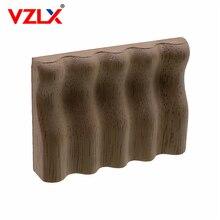 VZLX Apliques de talla de madera para muebles decoración náutica Vintage, calcomanías sólidas para puerta de armario, patrón de flores talladas, accesorios de madera