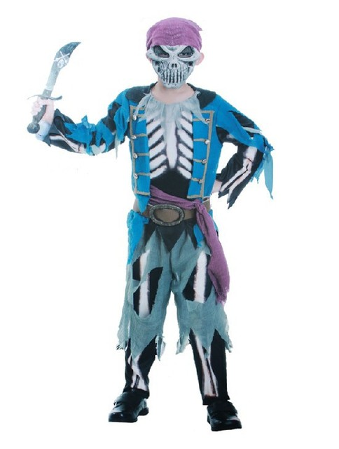 Halloween party costume children boy blue horror pirate ghost costume printing skeleton clothes trouses mask  sc 1 st  AliExpress.com & Halloween party costume children boy blue horror pirate ghost ...