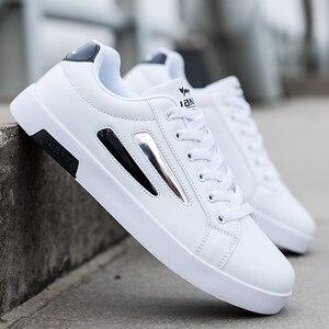 Image 5 - Wysoka marka jakości mężczyźni obuwie gorąca sprzedaż wiosenny i jesienny nowy obuwie męskie oddychające moda czarne obuwie męskie białe