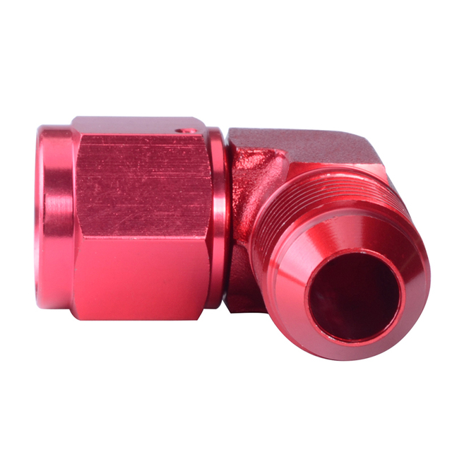 AN3 AN4 AN6 AN8 AN10 AN12 90 Degree Female To Male Swivel Fitting Adapter Red