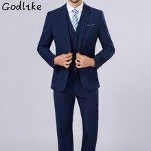 2017 men business casual dress is a large size professional suit wancher groom wedding dress/Men's fashion cotton suit   S-5XL