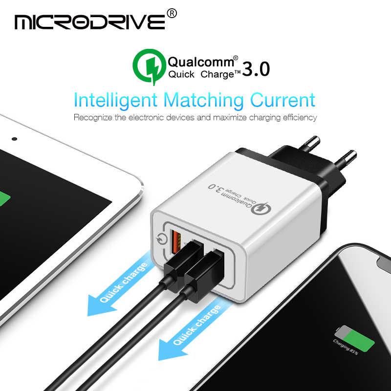 Universal 18 W USB Pengisian Cepat 3.0 5 V 3A untuk iPhone 7 8 Uni Eropa US Plug Ponsel Cepat charger Pengisian untuk Samsug S8 S9 Huawei