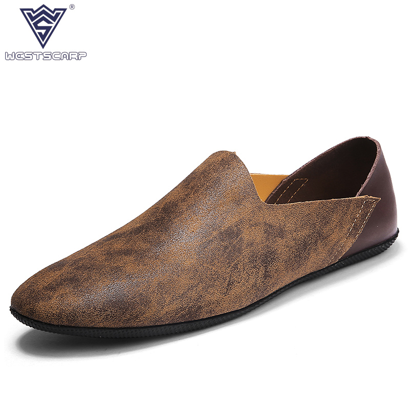 2018 New Man Breathable Lightweight Driving Shoes Male Casual Genuine Leather Loafers Spring Autumn Hombre Sapatos