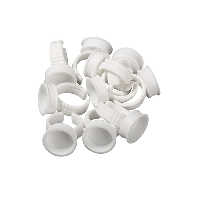 Biomaser 100pcs Tattoo Cups S Disposable Permanent Makeup Ring Tattoo Ink Eyebrow Lip Tattoo Pigments Holder Rings Container Cup 5