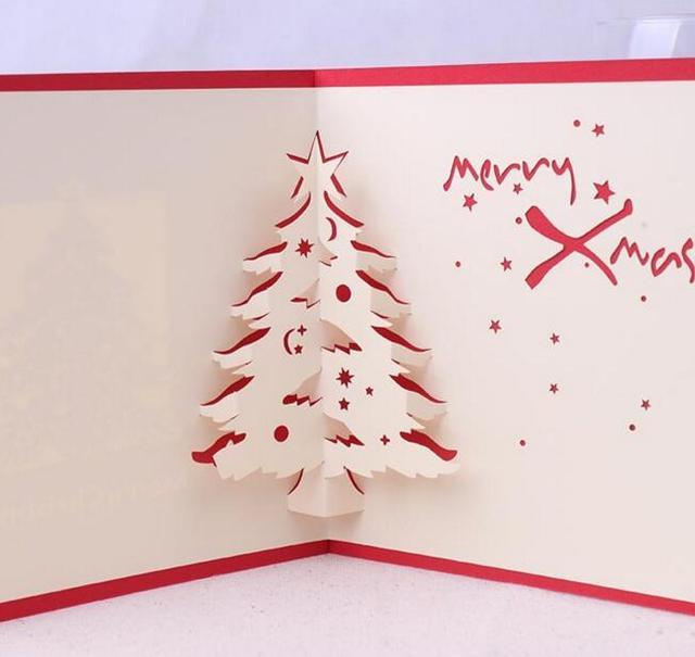 10 stücke Weihnachtsbaum Handgemachte Kirigami Origami 3D Pop up ...