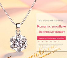 Snowflake Pendant S925 Silver Jewelry Beautifully Designed Woman Valentine's Day Gift female deer buckle beautifully unique gift wang yinshi jewelry s925 silver inlaid huang yusui ear