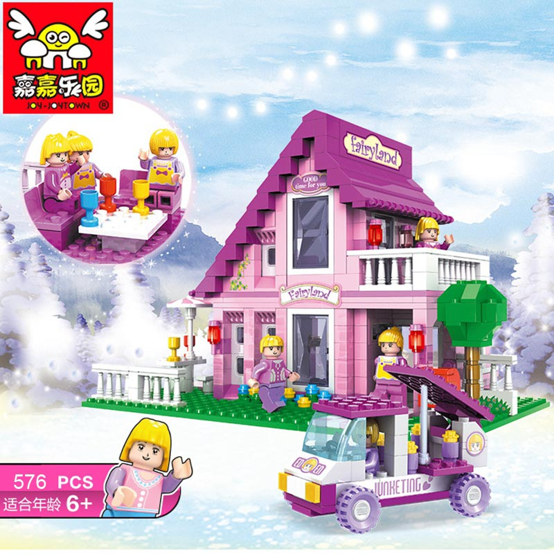 576pcs Princess Castle Building Blocks Compatible With LegoINGlys Ninjagoes Friends for Kids Model Bricks Compatible Lepin Block new lepin 16008 cinderella princess castle city model building block kid educational toys for children gift compatible 71040