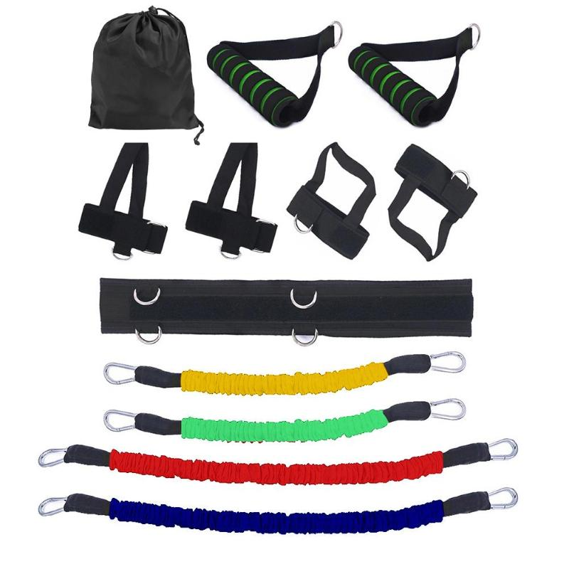 Resistance Bands Home Gym Stretching Strap Set Waist Leg Bouncing Training Arm Exercises Boxing Muay Thai Bouncing Strength