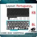 새로운 노트북 a1286 키보드 포르투갈어 맥북 프로 15 ''a1286 키보드 portugual pt + 백라이트 백라이트 + 나사 2009-2012 년
