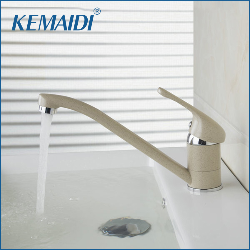 KEMAIDI Kitchen Faucet Solid Brass  Mixers &Taps Newly Swivel Hot And Cold Mixer Tap Painting Bathroom Faucet Deck MountedKEMAIDI Kitchen Faucet Solid Brass  Mixers &Taps Newly Swivel Hot And Cold Mixer Tap Painting Bathroom Faucet Deck Mounted
