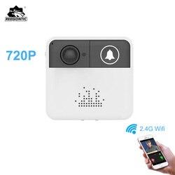 Redgontic Беспроводной Wi-Fi дверной звонок домофон дверной звонок видео камера двухстороннее аудио ночное видение приложение управление для iOS ...