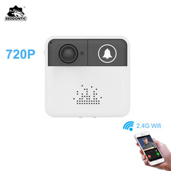 Redgontic беспроводной Wifi дверной звонок домофон дверной звонок видео камера двухстороннее аудио ночное видение приложение управление для iOS ...