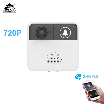 Redgontic 무선 wifi 초인종 인터폰 도어 벨 비디오 카메라 ios 안드로이드 폰용 양방향 오디오 야간 투시경 app 제어