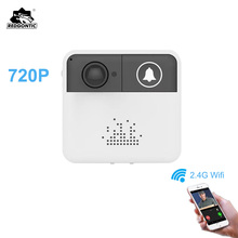 Redgontic Wireless Wifi Doorbell Intercom Door Bell Video Camera Two-Way Audio Night Vision APP Control for iOS Android Phones