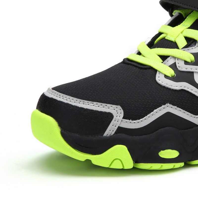 Balabala ילד נסיעה סניקרס עם הו ולולאה רצועת נער חיצוני Sneaker עם אנטי להחליק Sole מרופד צווארון כרטיסייה בעקב