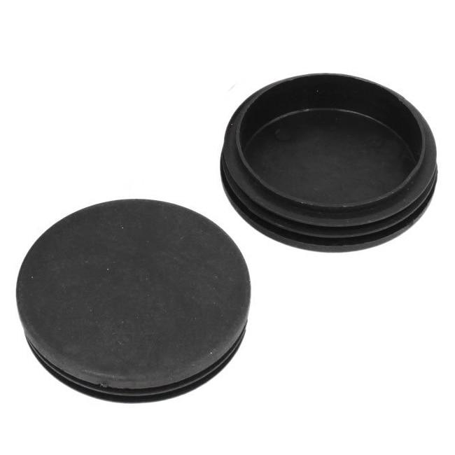 Hot Sale 12Pcs 70mm Diameter Plastic Black Round Inserted Tube Table Leg End Plug