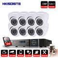 8CH système de sécurité CCTV HD 1080N AHD DVR 8 pièces 720 P IR système de caméra de vidéosurveillance intérieure 8 canaux Kit de Surveillance vidéo caméra dôme