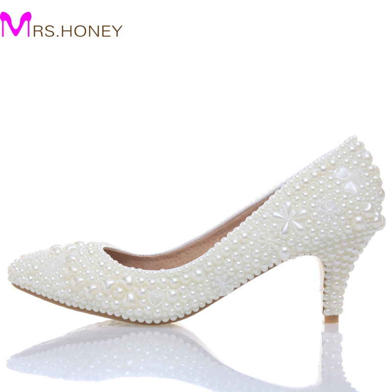 Luxury sexy lady wedding shoes Wedding Bridesmaid Shoes Party Shoes Comfortable med heel bridal shoes for woman honeymoon navy blue woman bridal wedding sandals med heel peep toe bride bridesmaid lady evening dress shoes white ivory pink red hp1623