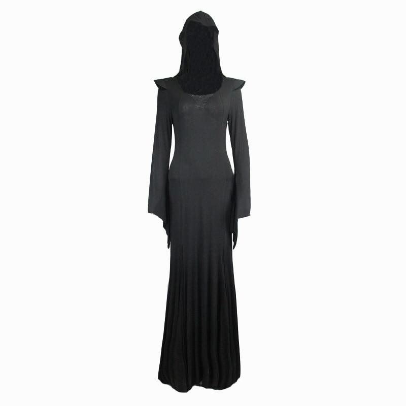 De Robe Sexy Capuche Diable Kei Femmes À Steampunk Longue Gothique Visuel Noir Costume Mode Halloween 0xpXwOpd