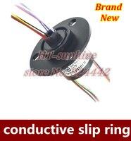 High Quality 2PCS LOT 12 Circuits 2A Micro Vias 5mm Diameter Collector Ring Diameter 22mm Slip