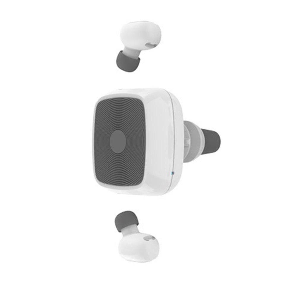 Hot Mini Bluetooth 5.0 casque voiture support magnétique support TWS jumeaux sans fil stéréo écouteurs sport écouteurs pour iphone Android