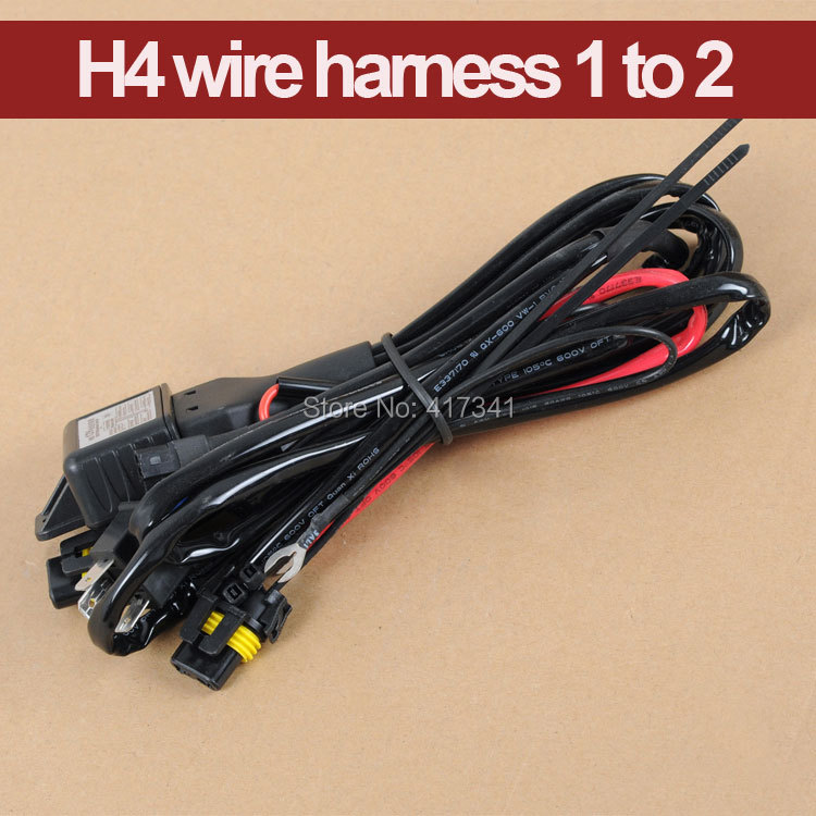 High Quality 12V 35W HID Bi xenon H4 Wire Harness Controller for Car Headlight Retrofit connect hid bixenon projector lens