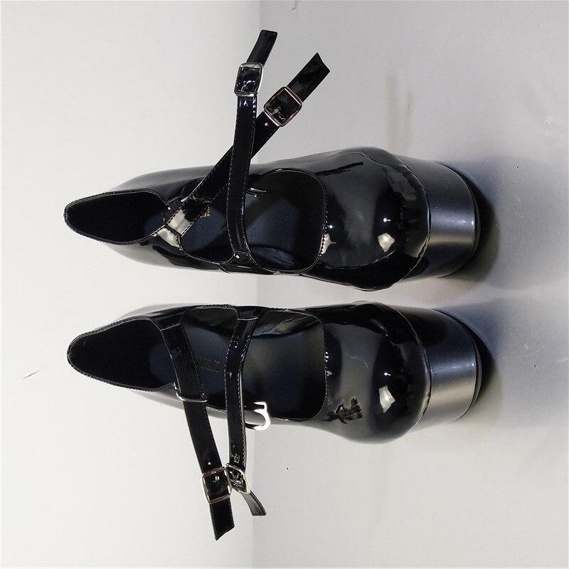 formes La Verni Hauts Stiletto Party Des Talons Chaussures 15 Plates En Pu Mode Femmes Cm Cuir Sexy Noir À SxHwzRH