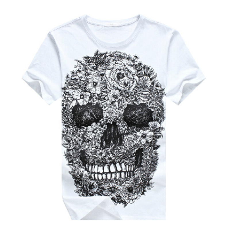 Newest Fashion 2017 Brand font b Skull b font 3D T Shirt Men Hip Hop Mens