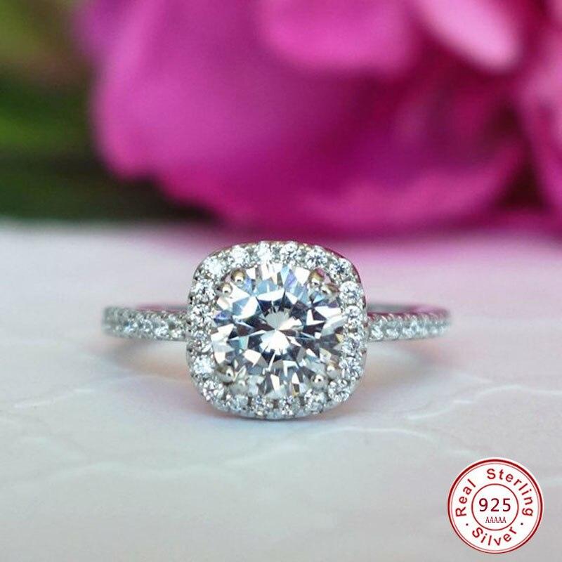 Brillante grande claro AAA CZ anillo cristal moda 925 joyería de boda de plata esterlina Anillos De Compromiso femenino para mujeres regalo de fiesta ATHENAIE genuino de Plata de Ley 925 abalorios Pave Clear CZ se adapta a todo encanto europeo pulsera auténtica joyería regalo