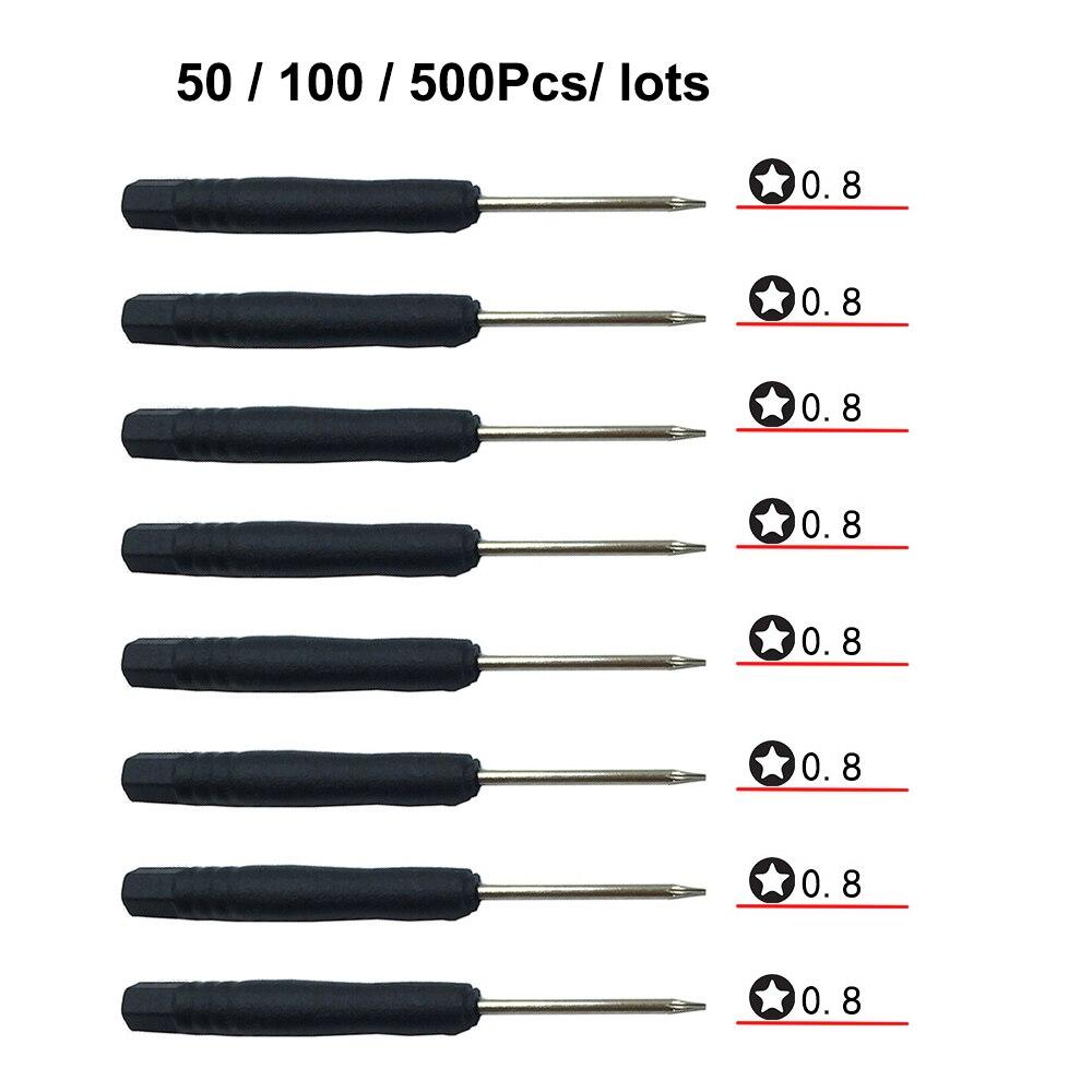 50/100/500 Teile/lose Mini 5-punkt-stern Pentalobe 0,8 P2 Schraubendreher Werkzeuge für iPhone/MEIZU/Vivo ect Bottom Fall Freies Verschiffen