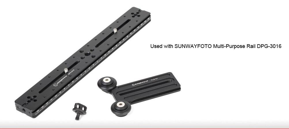 SUNWAYFOTO YLS-01 головка штатива быстросъемная пластина для телеобъектива поддержка штатива пластина для телеобъектива поддержка длинного объектива