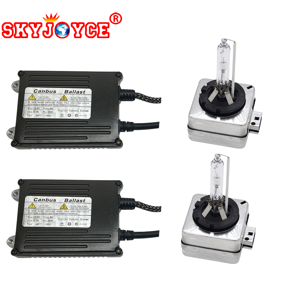 SKYJOYCE D1S hid kit 35W 12V error free D1R D1C D1S canbus kit 4300K 5000K 6000K 8000K hid conversion xenon kit D1C/S cable gztophid 1set 35w 9012 hir2 canbus ballasts hid xenon conversion kits genuine ac for ford edge toyota iq lexus gs350 boss302