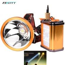 Led ヘッドランプクリー xhp70 または L2 白と黄色光オプション直接充電屋外狩猟釣り洞窟 led ヘッドライト