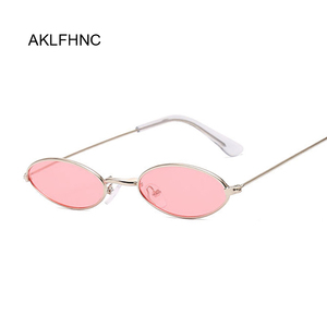 Small Frame Black Shades Round Sunglasses Women Oval Brand Designer Vintage Fashion Pink Sun Glasses Female Oculos De Sol(China)