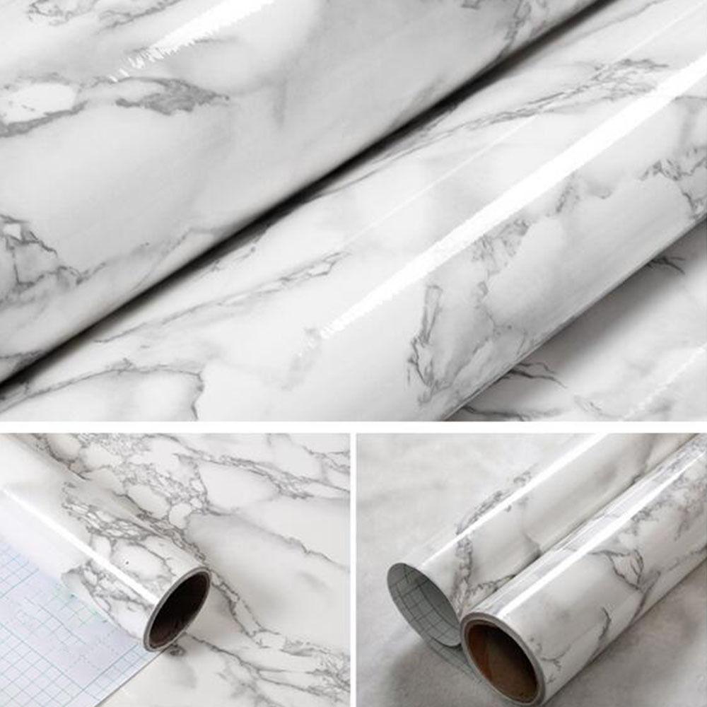 SUNICE auto-adhésif motif marbre PVC papier peint autocollants moderne amovible effet pierre vinyle papier peint pour cuisine
