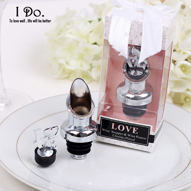 Free Shipping Love Wine Stopper And Pourer Wedding Favors And ...