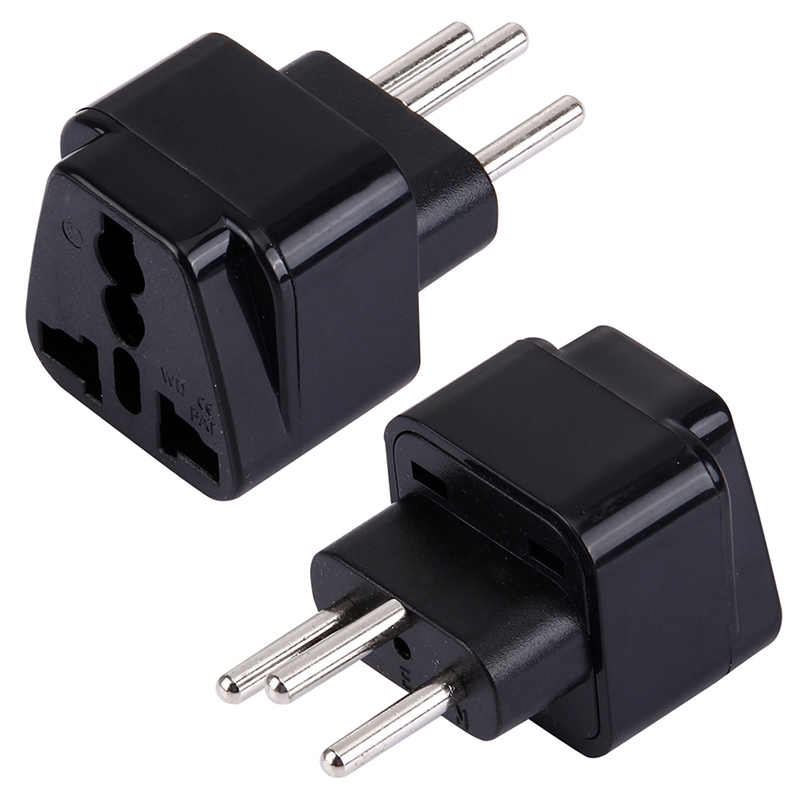 Universal EURO Brazil Russia Israel Swden 2 Pins 3 Pins Socket to Swiss Switzerland Suisse 3 Pin Travel Power Adapter Plug