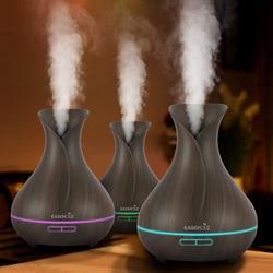 EASEHOLD 400 ml Aroma Ätherisches Öl Diffusor Ultraschall-luftbefeuchter Mit Holzmaserung 7 Farbwechsel Led-leuchten Elektrische Arbeit