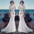 2017 Boho Wedding Dresses Long Two Pieces Bohemian Lace Bridal Dress 2 Pieces Boho Outdoor Beach Garden Wedding Gown Casamento