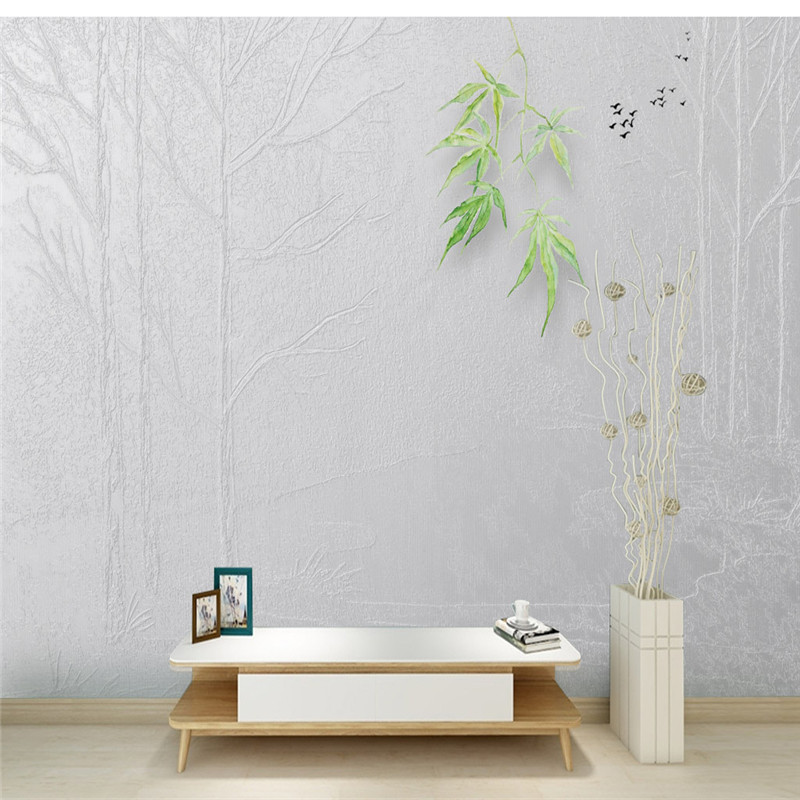 Wallpaper 3D Stereoscopic Mural for Living Room Home Decor Mural Light Grey Tree Photo Walls Papers Nature Large Custom Painting custom 3d mural wallpaper european style painting stereoscopic relief jade living room tv backdrop bedroom photo wall paper 3d