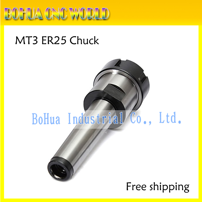 Free shipping 1PC ER25 MT3 M12 Collet Chuck Holder Fixed CNC Millling