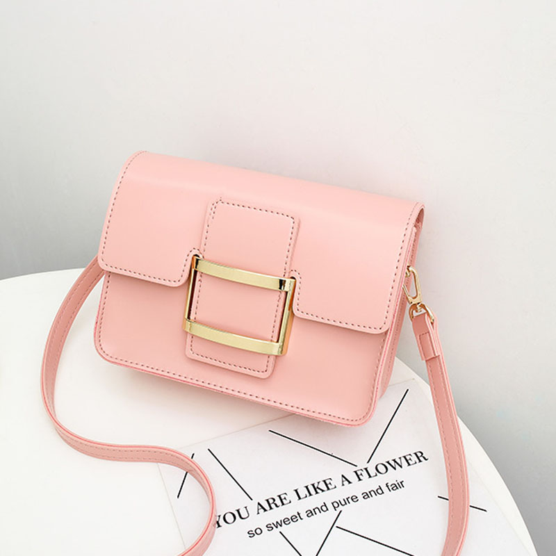 c842e6cc23 A1707 Small Square Flap Bag Sling Shoulder Leather Handbags Purses Famous  Brand Design Mini Women Messenger Crossbody bags