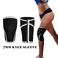 Knee Sleeve Squat Support Compression Pads Brace Weightlifting 7mm Neoprene Knee Kneepad Wraps Bandage Guard Straps (1 Pair )