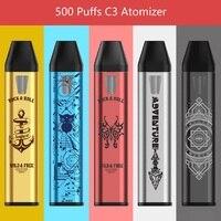 50 шт. новые электронные сигареты 500 затяжек C3 распылитель для CBD Fillible одноразовые электронные сигареты мини Vape Pod Стартовые наборы