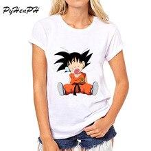 PyHen Newest 2016 Dragon Balls Character Design T Shirt Novelty Goku Tees Hipster T-shirt women Fashion O-neck Tops