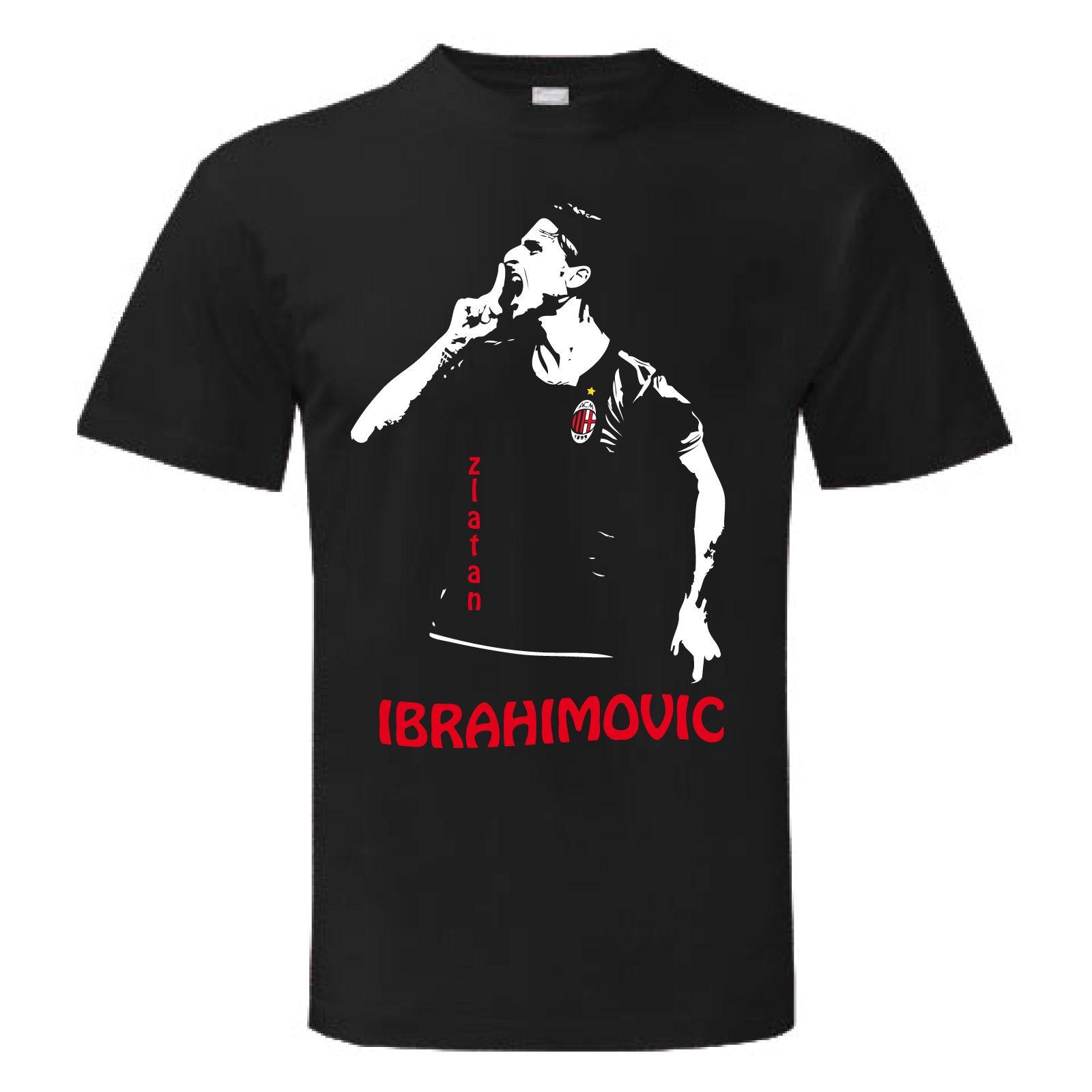 Gildan T-shirt IBRAHIMOVIC IBRA MILAN ZLATAN maglietta maglia Uomo Donna Man Woman