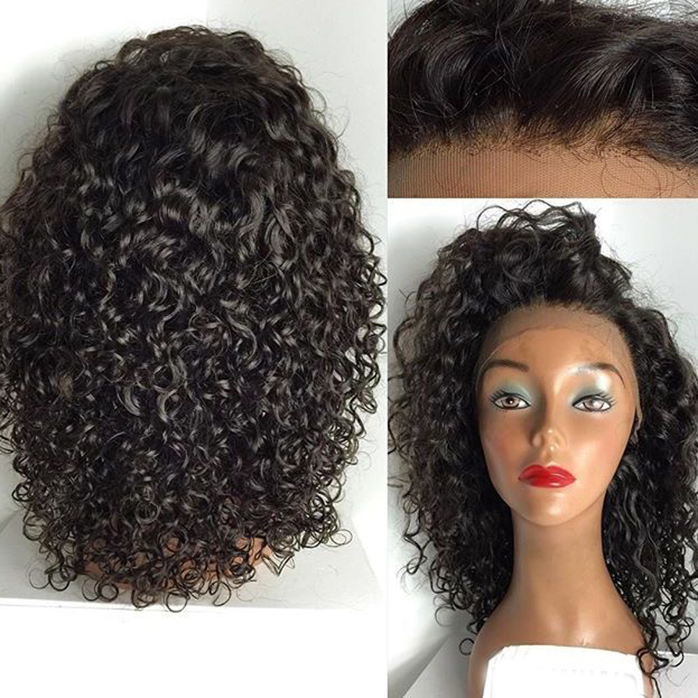 Eversilky Pre Plucked Full Lace Wigs for Black Women Curly Remy Hair Wig with Baby Hair