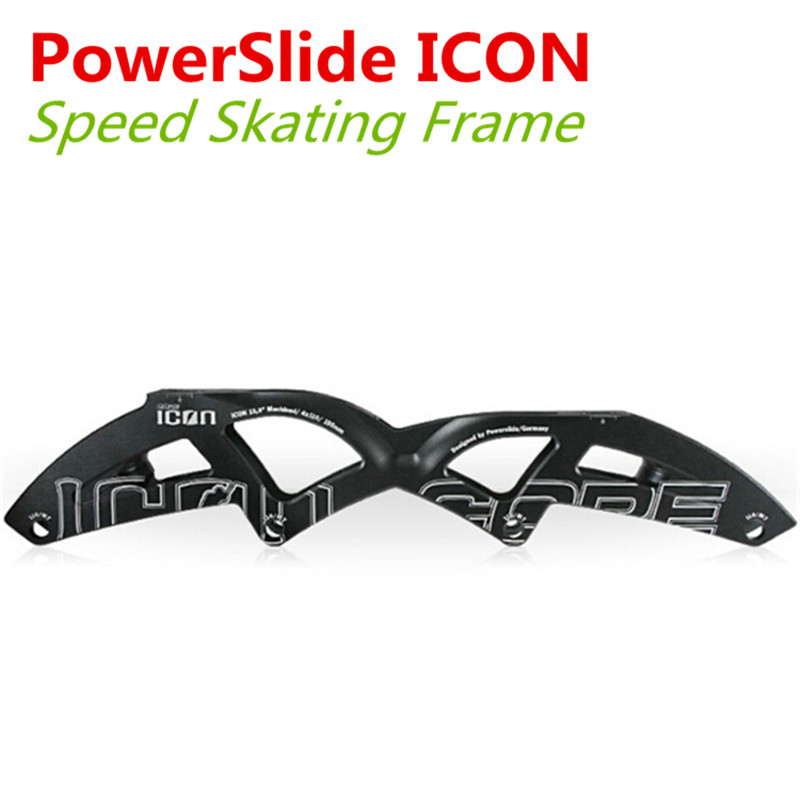 [PowerSlide ICON Q7] PowerSlide ICON Q7 Inline Speed Skate Frame, 4X100mm 4X110mm, Boot Nail Distance 165mm 180mm 195mm [7000 aluminium alloy] original vortex inline speed skate frame base for 4x110mm 4x100mm 4x90mm skating shoe bcnt sts cityrun